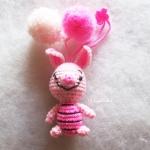 พวงกุญแจตุ๊กตาพิกเลท dolls pom pom amigurumi crochet keychain