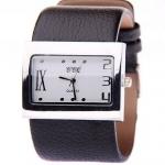 นาฬิกาข้อมือผู้หญิง สายหนังเส้นใหญ่ แบบเท่ ๆ วินเทจ หน้าปัด สี่เหลี่ยมใหญ่ นาฬิกา สายหนัง เส้นใหญ่ แบบวัยรุ่น ใส่เท่ ๆ มีสไตล์ 170291