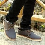 รองเท้าผ้าใบ ผู้ชาย รองเท้าใส่เที่ยว รองเท้าหุ้มส้น ผ้าแคนวาส หรือ ผ้ายีนส์ สีเทา ตัดน้ำตาลอ่อน แบบสวย ใส่เท่ รองเท้าผ้าใบเท่ ๆ 517968