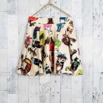 **สินค้าหมด skirt278 กระโปรงแฟชั่นทรงวงกลมผ้าหนาเนื้อดีมีน้ำหนักลายการ์ตูนพื้นสีครีม