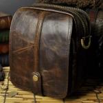 กระเป๋าคาดเอว หนังแท้ Crazy Horse กระเป๋าหนัง คาดเอว ผู้ชาย ช่องซิป 3 ช่อง แบบสวย เท่ มีสไตล์ 675154