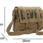 กระเป๋าสะพายข้าง ผู้ชาย Levis สีน้ำตาล กระเป๋าใส่เอกสาร นำเข้า ราคาพิเศษ