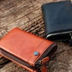 กระเป๋าสตางค์ผู้ชาย กระเป๋าสตางค์ ใบสั้น กระเป๋าหนังวัวแท้ ดีไซน์ สไตล์ วินเทจ มีซิปด้านบน กันเงินหล่น กระเป๋าใส่เหรียญ แยกออกได้ ของขวัญสุดหรู 352888
