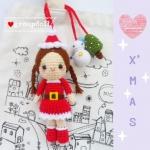 """ตุ๊กตาถัก ซานตี้ 6"""" + ตุ๊กตาหิมะ"""