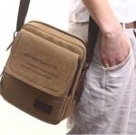กระเป๋าสะพายข้าง กระเป๋า ผ้าแคนวาส หรือ ผ้ายีนส์ ผู้ชาย ผู้หญิงใช้ได้ กระเป๋าสะพายขนาดกลาง ใส่กล้อง ใส่โทรศัพท์ ใส่ของกระจุกจิก เดินทาง 352449