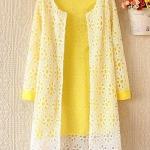 เสื้อคลุม เสื้อลูกไม้ ด้านในสีเหลือง ลูกไม้ สีขาว เสื้อคลุม แขนยาว แบบผู้ใหญ่ ดูดี มีระดับ ใส่ออกงาน เสื้อแขนยาว แบบสวย ๆ 444135