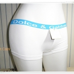 กางเกงในผู้หญิง สีขาว ขอบสีฟ้า K002