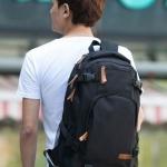 กระเป๋าเป้ กระเป๋าสะพายหลัง ผู้ชาย ใบยาว กว่าปกติ Backpack สไตล์ หนุ่มเกาหลี เหมาะสำหรับการเดินทาง สุด ๆ สีดำ no 644850_1