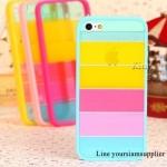 เคส iphone 5 สีรุ้ง Rainbow case ขอบสีฟ้า ฟรีปากกา Touch screen