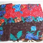 ผ้าถุงสำเร็จรูป แดงน้ำตาล