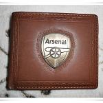 กระเป๋าสตางค์ลาย ทีมฟุตบอล Arsenal สีน้ำตาล