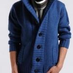 เสื้อกันหนาว ผู้ชาย เสื้อไหมพรมถัก แขนยาว แฟชั่นต่างประเทศ ดีไซน์เก๋ ไฮโซ ใส่แล้วอุ่นมากค่ะ สีน้ำเงิน no 8087720_1