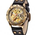 นาฬิกาข้อมือ โชว์กลไก Mechanical watch นาฬิกาสายหนัง ผสมผสาน กับเทคโนโลยี ระบบฟันเฟือง สวย วินเทจ 450672