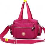 กระเป๋าถือ กระเป๋าสะพาย ผู้หญิง กระเป๋าผ้าไนลอน กันน้ำ สีสันสดใส ดีไซน์ ทรงกระบอก มีกระเป๋า ซิป 2 ข้าง กระเป๋าใส่ของกระจุกจิก กระเป๋าวัยรุ่น 967534