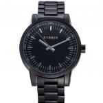 นาฬิกาข้อมือ ผู้ชาย นาฬิกา สายสแตนเลส สีดำ สีเงิน ออกแบบ ตัดกับ หน้าปัด สีขาว สีดำ ดีไซน์ คลาสสิค ไม่มีตัวเลข นาฬิกาแบบผู้ใหญ่ ดูดี มีระดับ 461559