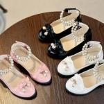 รองเท้าเด็กผู้หญิง รองเท้าคัทชู รองเท้าแฟชั่น เด็กผูหญิง ใส่ออกงาน หนังเงา ตกแต่งด้วยไข่มุก สไตล์คุณหนู 635654