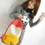 กระเป๋าเป้ กระเป๋าสะพายหลัง นำเข้าญี่ปุ่น สีเหลือง สไตล์ Out Door