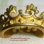 (ขายแล้วค่ะ) C008 แหวนรูปมงกุฎ ทองเหลือง100%