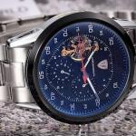นาฬิกาโชว์กลไก นาฬิกาข้อมือเปลือย นาฬิกาข้อมือผู้ชาย สาย สแตนเลส แท้ หน้าปัด Chronograph แนว Sport กันน้ำ หน้าปัดน้ำเงิน กรมท่า 827802_2