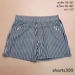 **สินค้าหมด shorts309 กางเกงขาสั้นเอวยืด ผ้านิ่มลายริ้วยืดได้เยอะ โทนสีขาวดำ