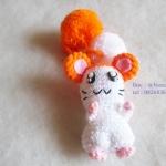 ที่ห้อยกระเป๋า พวงกุญแจตุ๊กตา หนูแฮมเตอร์ hamster dolls pom pom amigurumi crochet keychain