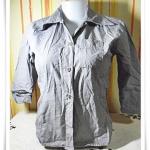 #155003 Used เสื้อเชิ้ตผู้หญิง ใส่ทำงาน สีเทา