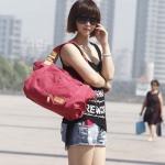 กระเป๋าสะพายข้าง กระเป๋าถือผู้หญิง ผ้าแคนวาส สีคลาสสิค สีแดง กุหลาบ เฉดชมพู กระเป๋าใส่ของทำงาน ใส่หนังสือเรียน ได้สบาย ๆ 5785425_3