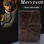 กระเป๋าสตางค์ผู้ชาย กระเป๋าสตางค์ ใบสั้น หนังแท้ สีน้ำตาลเข้ม Dark Coffee โชว์ลายหนัง Oil wax กระเป๋าสตางค์สุดหรู คลาสสิค 71445_3