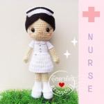"""ตุ๊กตาถัก พยาบาล 12"""""""