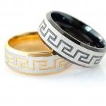 แหวนเงิน แหวนทอง ผู้ชาย ผู้หญิง ใส่ได้ แหวนคู่ แกะรอย สัญลักษณ์ โรมัน คลาสสิค ของขวัญแทนใจ ให้แฟน สุดหรู 231426