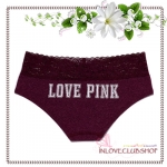 Victoria's Secret Panties / Lace Trim Hipster Panty (Size M / #Ruby) *ภาพด้านหลัง