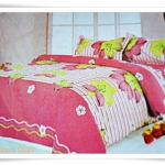ชุดผ้าปูเตียง ผ้าปูที่นอน สีชมพูดอกไม้ Cotton 6 ฟุต 5 ชิ้น B005