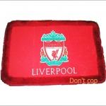 พรมเช็ดเท้า ทีมฟุตบอล Liverpool สีแดง สำหรับตกแต่งบ้าน