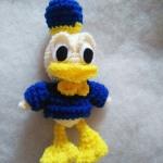 ตุ๊กตาเป็ด donald duck ขนาด 5 นิ้ว (donald duck amigurumi crochet)
