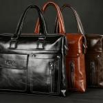กระเป๋าถือผู้ชาย ผู้หญิง กระเป๋าถือ ใส่ Notebook กระเป๋าใส่เอกสาร polo กระเป๋าหนัง ขัดมัน ดีไซน์สวย แบบนักบริหาร สวยเท่ มีสไตล์ 912017