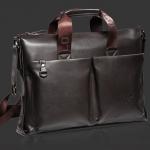 กระเป๋าถือผู้ชาย กระเป๋าใส่เอกสาร ใส่ Notebook ได้ กระเป๋าถือ Polo หนัง Pu กันน้ำ ดูแลง่าย สีดำ และ สีน้ำตาล ดีไซน์ กระเป๋าหน้า 783031