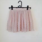 **สินค้าหมด skirt255 กระโปรงแฟชั่นงานแพลตตินั่ม ผ้าชีฟองอัดพลีทชายกระโปรงแต่งลายสวย สีครีม เอวยืด 26-34 นิ้ว