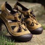 รองเท้าผู้ชาย รองเท้า แบบรัดส้น รองเท้า ใส่เที่ยว รองเท้าเดินทาง มีส่วนปิดด้านหน้า กันหินกระเด็น รองเท้ารัดส้น เท่ ๆ 580755