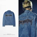 Preorder เสื้อยีนส์ PURPOSE TOUR Bieber OVERSIZE