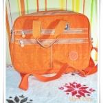 กระเป๋าถือ กระเป๋าสะพายข้าง ใส่ Notebook kipling สีส้มสด