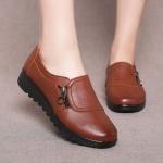 รองเท้าหุ้มส้น ผู้หญิง รองเท้าหนังแท้ มีส้นเล็กน้อย รองเท้าหนัง แต่งซิป แบบวัยรุ่น น่ารัก ใส่เที่ยว ใส่ทำงาน 540126