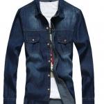 เสื้อยีนส์แขนยาว เสื้อยีนส์ผู้ชาย Jacket ยีนส์ ใส่คลุม หรือ ใส่เทีี่ยว ใส่เดี่ยว ๆ แบบ คลาสสิค ฟอก สีน้ำเงินเข้ม มีกระเป๋าหน้า 2 ข้าง no 28279_1