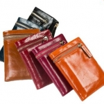 กระเป๋าสตางค์ผู้หญิง ใบสั้น กระเป๋าสตางค์ หนังวัวแท้ แบบ Oil Wax แบบคลาสสิค สุด ๆ มีซิปด้านนอก กระเป๋าหนังแท้ สุดหรู ของขวัญให้แฟน 59597