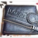 กระเป๋าสตางค์ levis หนังแท้ ใบสั้นสีดำ L902