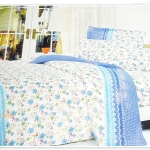 ชุดผ้าปูที่นอน 6 ฟุต 3 ชิ้น สีฟ้า P009
