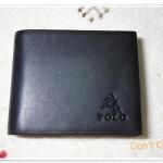 กระเป๋าสตางค์ Polo หนังแท้ สีกรมอ่อน B12082