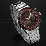 นาฬิกาข้อมือ ผู้ชาย สาย Stainless หน้าปัด แนว Sport เรียบหรู ผสม ผสานกับ แนวสปอร์ต ได้อย่างลงตัว ตัดขอบหน้าปัด ด้านใน เพิ่มมิติ ราคาถูก 793447