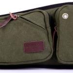 กระเป๋าคาดเอว ผู้ชาย ผ้าแคนวาส อย่างหนา สีเขียวทหาร สะดวกสบาย สวย เท่ ของขวัญให้แฟน สุดเก๋ 708636