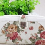 กระเป๋าสตางค์ซิปรอบ สีขาว ลายกุหลาบ หวาน ๆ กระเป๋าสตางค์ Anna Sui กระเป๋าสตางค์ผู้หญิง แบบหวาน ๆ ลดราคา 870108