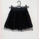 **สินค้าหมด skirt268 กระโปรงแฟชั่นงานแพลตตินั่ม ผ้าลูกไม้คลุมทับผ้าแก้ว มีซับใน สีดำ เอวยืดลายลูกไม้ 26-34 นิ้ว